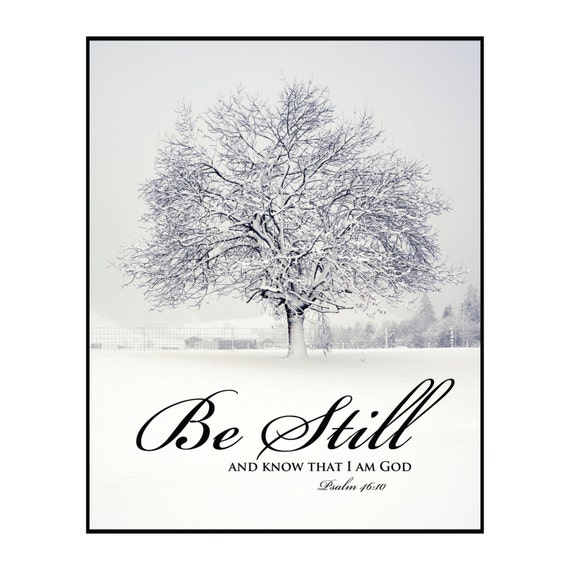 Be Still And Know That I Am God Printed Wood Sign Wall Decor 12x15