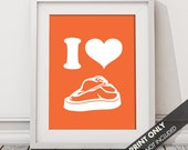I LOVE STEAK - Art Print (Featured in Flame) Keep Calm Art Prints and Posters