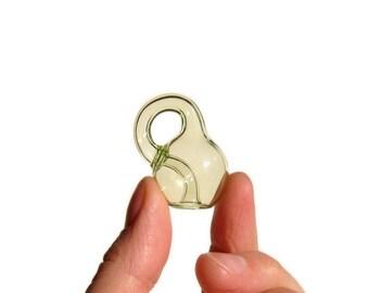 Uranium Glass Klein Bottle
