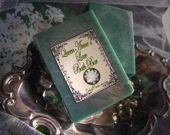 Fragrant Queen Anne's Lace Bath Bars - 6 ounce each -  A beautiful green and playful fragrance in a Shea Butter Bath Bar