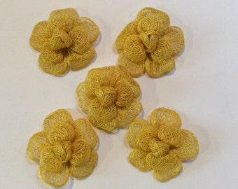 Yellow Straw Craft Flowers