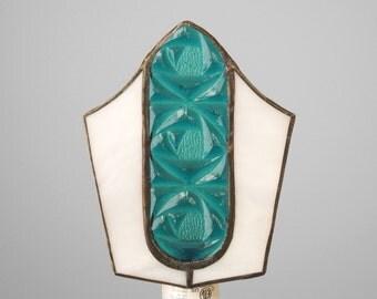 Night Light Stained Glass Nightlight Blue Handmade OOAK