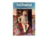 """Milton Glaser """"Fall Festival"""" poster, 1984."""