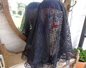 Widow Veil, Mourning Hat, Civil War Style, Dickens, ,Alternative Wedding, Punk, Goth, Edwardian