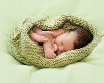 Custom Hand Knit Baby Cocoon/Sleep Sack