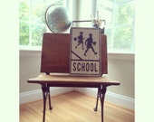School Crossing - Hand Painted Vintage Inspired Road Sign