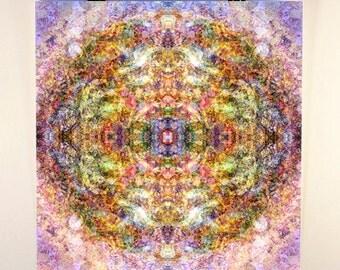 "12x12'' Mandala Art ""Bliss""- Pastel Impressionism Sacred Geometry"