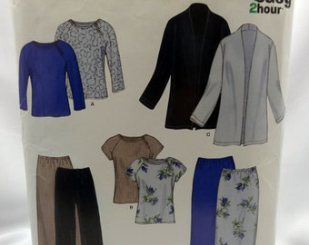 New Look 6147, Misses' Jacket, Long Skirt, Tops, and Pants Sewing Pattern, Misses, Size 10 to 22, Uncut