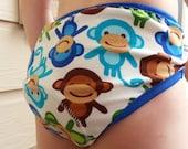 PREMIUM - Gender Neutral Toddler Training Underwear with Waterproof Pad - Monkeys 3019