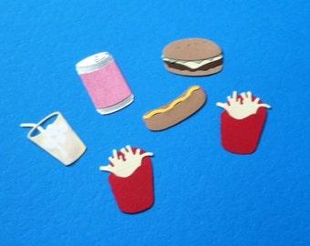 Fast Food Die Cuts - Hamburger-Hotdog-FF-Soda-Lemonade