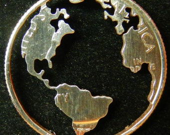 Earth Hand Cut Coin Jewelry