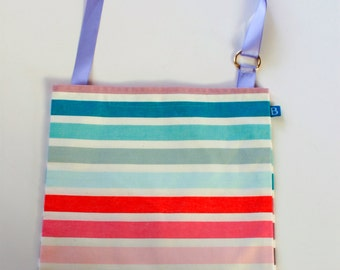 Washable, Eco-Friendly Car Trash Bag in Striped Fabric