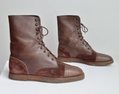Vintage 1980s brown suede boots