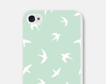 iPhone 6 Plus Case - Bird iPhone 6 Case - Bird iPhone 5 Case - Mint Green iPhone Case iPhone 5c Case Bird iPhone Case Samsung Galaxy S5 Case