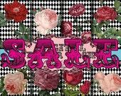 SALE!!! Rose Digital Download Printable Digital Paper Pack #1 Scrapbook Clip Art 8 Digital Collage Sheets - 8.5 x 11 inch Instant Download