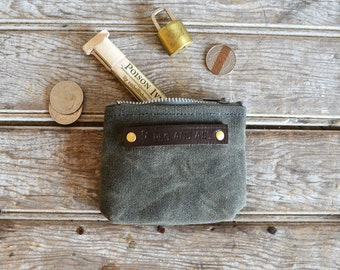 The Peewee Pouch: Moss by Peg and Awl