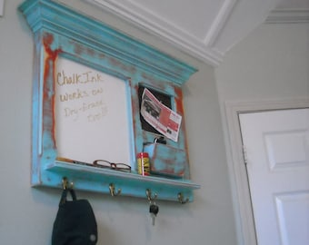 Antiqued Acqua E-Z Erase or Chalk  Bulletin Board