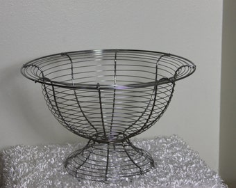 Stainless Wire Pedestal Basket Bowl Perfect for decorations sculptural design Holiday Basket Fill it up