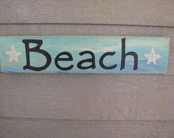 Beach and Starfish Sign
