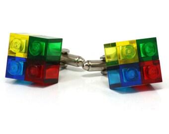 4-pack cufflinks RENO made with LEGO® bricks