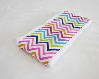 Multicolored Chevron Baby Burp Cloth