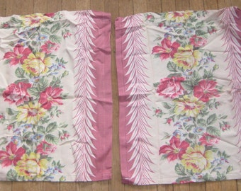 Fab 1940s Miami Cafe Chic 11 Curtain Panels Sweet French Country Chic