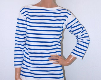 Vintage 70s bodysuit french moulin rouge by snapitupvintage for Striped french sailor shirt