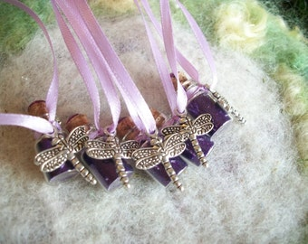 Party Favors Sparkling Purple Dragonfly Pixie Fairy Party Favors, Purple Garden Fairy Birthday Party Favors