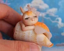 OOAK sea shell snail Alaina doll fairy fae faerie miniature