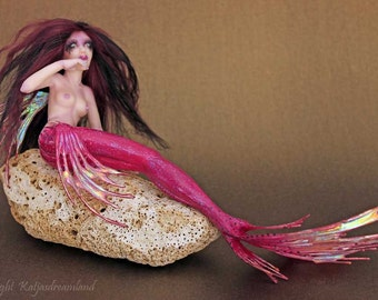 OOAK art doll Deep Water mermaid sea maiden fairy