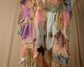 Formal Scarf Pastel Passion Marie Antionette Art to Wear Boho Cinderella Style Romance