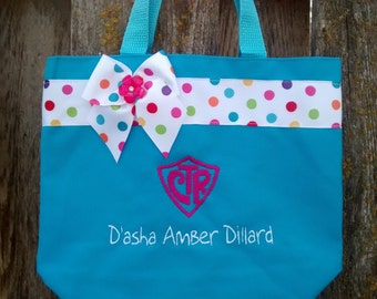 CTR Scripture bag-Aqua blue- Personalized at NO additional charge