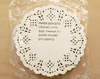 wholesale / 200 Flower Lace Paper Doilies - S (4.5in)