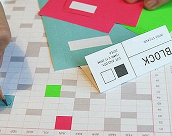 Colorful Block Index Stickers - 6 sheets (2.75 x 4.35in)