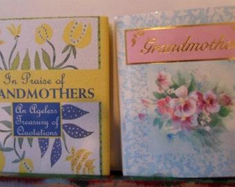 Summer SALE Vintage Set of Mini Books for Grandmothers  Gift Books
