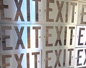 16 Exit Signs Free Shipping Vintage Metal Plastic Stencils Art Man Cave Old Sign