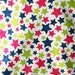 Stars in Navy, Raspberry and Lime Green Flannel Pillowcase