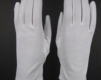 AllSizes - Vintage White dress/church gloves - 8-1/2 inches long(749g)