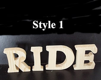 Wood Letters Unfinished Stand Alone Available thru Custom Order