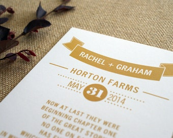 NEW - Rustic Wedding Ceremony Programs - 5x7 Flat Double-Sided Design - Custom Colors Available