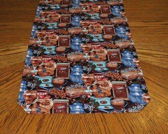 Coffee Bean Kitchen Reversible Table Runner