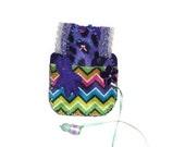 Plush cat felt play set small toys purple gift for girl