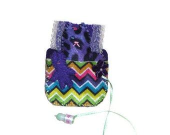 Plush cat felt play set purple small toys gift for girl
