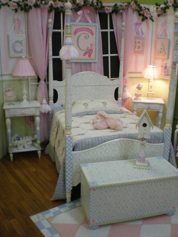 girl princess bedroom set princess nursery set handpainted furniture