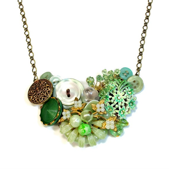 Upsycled Handmade Statement Necklace