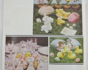 Vintage Vogue Patterns Craft Pattern 2654 Fantastic Easter/Spring Ducks, Rabbits, Chicks Sewing Pattern