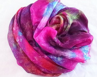 Hand dyed Silk Fabric, Silk Habotai 5mm Length by  SallyAnnesSilks on Etsy 513