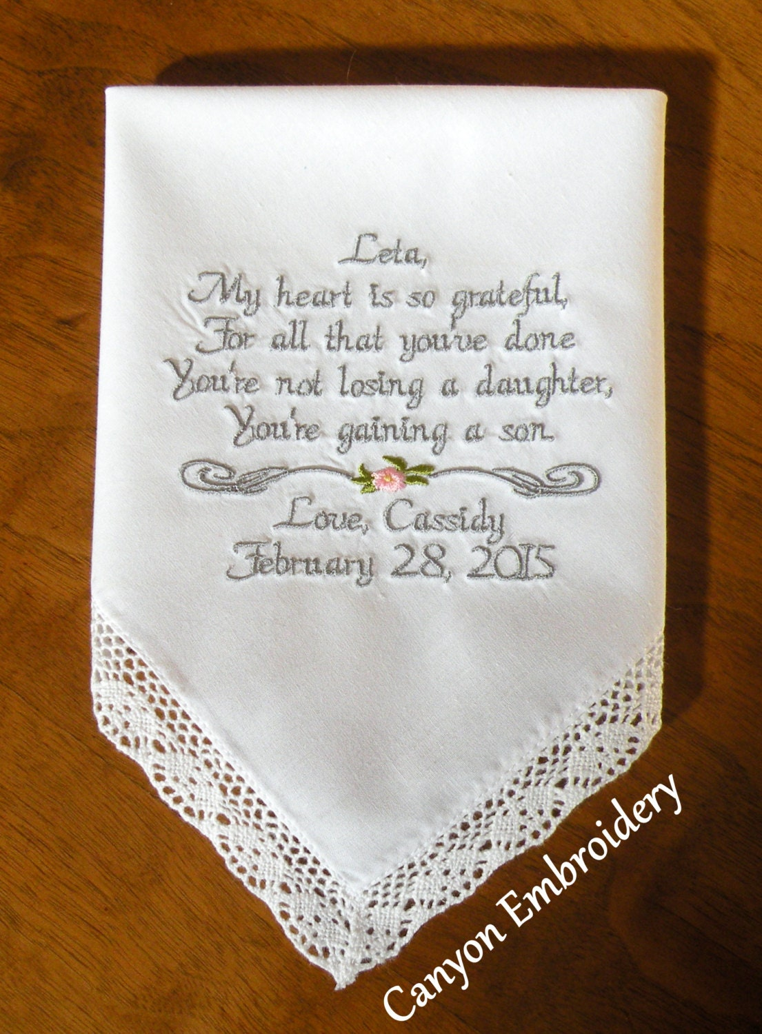 Mother of the Groom Gift Mother InLaw Gift Wedding Gift