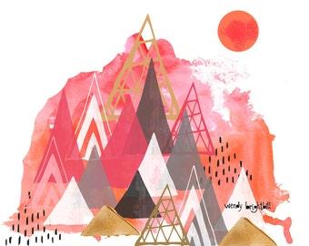 Over the Mountain 11 x 14 Print*