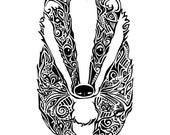 Downloadable Tribal Badger Print